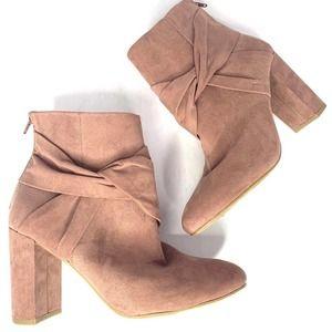 Report blush zip up booties